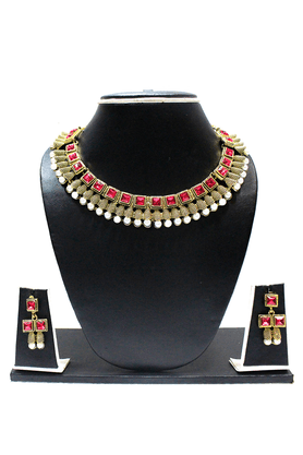 ZAVERI PEARLS Traditional Designer Necklace Set - ZPFK1322