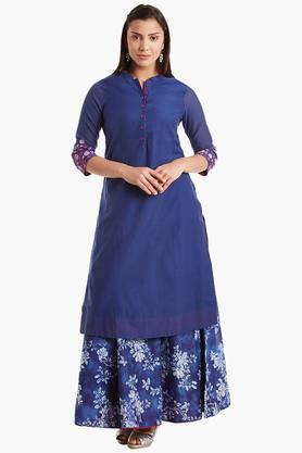 BIBA Womens Poly Cotton Straight Kurta