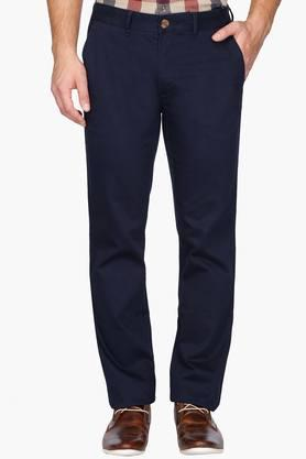 LOUIS PHILIPPE SPORTS Mens 4 Pocket Solid Chinos - 201253824