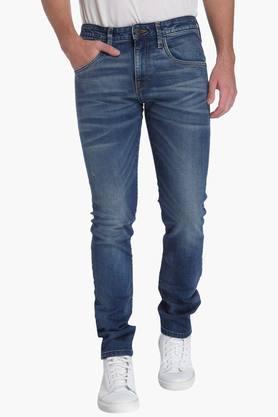 JACK AND JONES Mens Slim Fit 5 Pocket Heavy Wash Jeans (Glen Fit)  ...