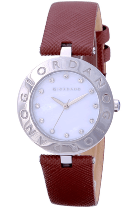 GIORDANO Womens Maroon Silicon Strap Analog Watch- 2754-03