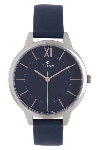 Womens Blue Dial Leather Analogue Watch - 2617SL01