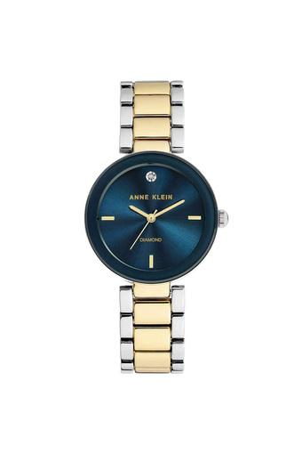 Womens Navy Blue Dial Stainless Steel Analogue Watch - AK1363NVTT