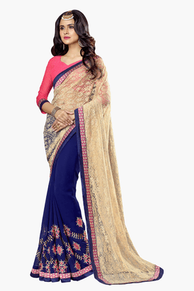 DEMARCA Womens Embroidered Saree - 201151722