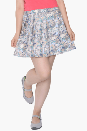 IDK Womens Flared Printed Mini Skirt