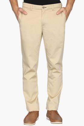 BLACKBERRYSMens 4 Pocket Regular Fit Solid Formal Trousers - 202123916