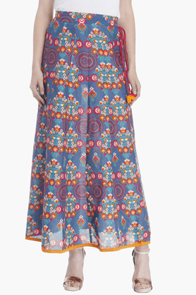 HAUTE CURRY Womens Printed Flared Skirt - 201302222