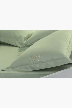 "FISHER WEST NY Sage Personalized Solid Pillow Covers (Pillow Cover 18"" X 27"" (2 Pcs)"