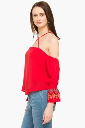 RS BY ROCKY STAR - Red PL Women Western Flat 50% Off - 2