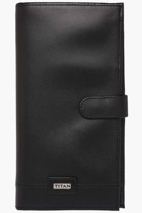 TITAN Mens Leather 1 Fold Wallet - 200436708