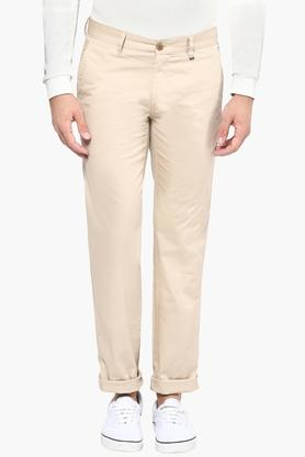 LOUIS PHILIPPE SPORTS Mens 5 Pocket Solid Chinos