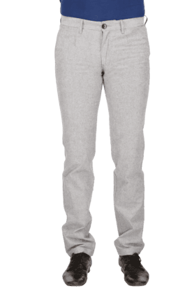 LOUIS PHILIPPE SPORTS Mens Flat Front Slim Fit Solid Chinos - 9962670