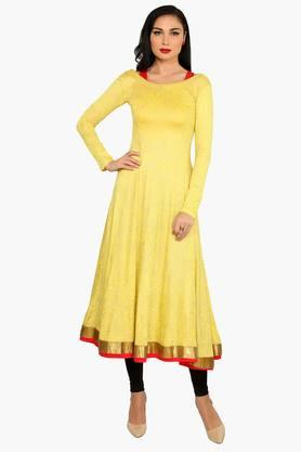 IRA SOLEILWomens Printed Anarkali Kurta With Inner (Buy Any Ira Soleil Product And Get A Necklace Free) - 201787606