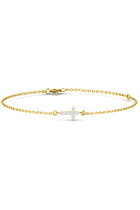 SPARKLES His & Her Diamond Bracelets In Gold And Real Diamond - 0.12 Cts