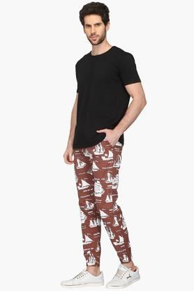 Mens 4 Pocket Printed Joggers