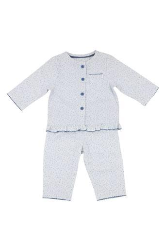 Kids Round Neck Printed Top and Pants Set