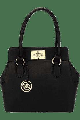 ELESPRYWomens Solid PU Satchel Handbag