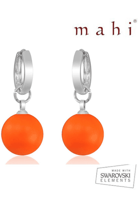 MAHI Mahi Brass Dangle & Drop Earring For Women Orange ER1104080ROr