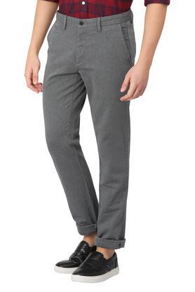 Mens 5 Pocket Slub Trousers
