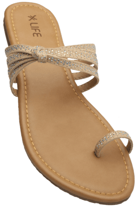 LIFE Womens Daily Wear Slipon Flat Chappal (Use Code FB15 To Get 15% Off On Purchase Of Rs.1200) - 200619699