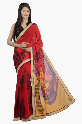JASHN Womens Printed Saree - 201502699