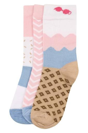 Girls Printed Socks - Pack of 3