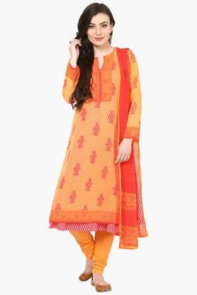 Womens Poly Cotton Straight Suit Set