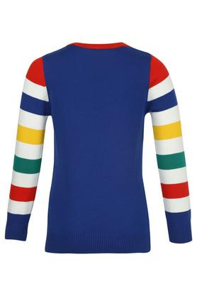 Boys Round Neck Colour Block Sweater