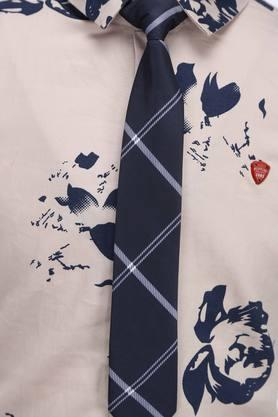 Boys Floral Print Casual Shirt with Tie