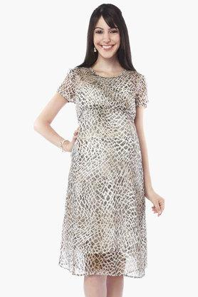 NINE MATERNITY Maternity Animal Print Nursing Dress