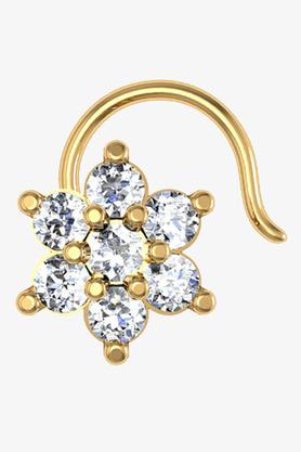 VELVETCASEWomens 18 Karat Yellow Gold Nose Ring (Free Diamond Pendant) - 201065098