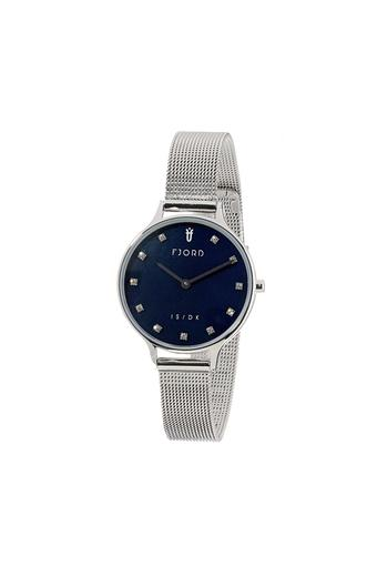 Womens Blue Dial Metallic Analogue Watch - FJ-6041-44