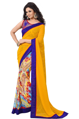 DEMARCA De Marca Multicolor Faux Georgette Designer DF-575A Saree