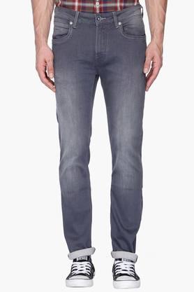 FLYING MACHINEMens Slim Fit Mild Wash Jeans (Michael Fit)