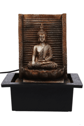 Fountain With Color Light - Buddha - Small