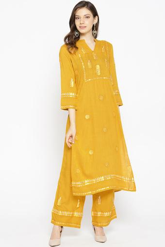 BE INDI -  YellowSalwar & Churidar Suits - Main