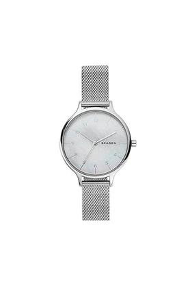 Womens Mother of Pearl Dial Stainless Steel Analogue Watch - SKW2701