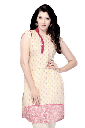 DEMARCA Womens Printed Kurta (Buy Any Demarca Product & Get A Pair Of Matching Earrings Free) - 200936875