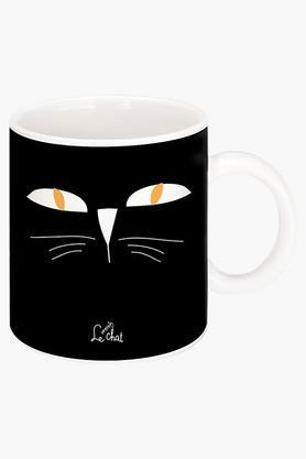 CRUDE AREAYellow Eyes Printed Ceramic Coffee Mug