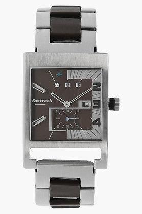 FASTRACKMens Brown Dial Stainless Steel Strap Watch