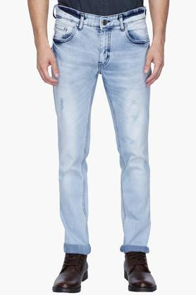 RS BY ROCKY STAR Mens 5 Pocket Stone Wash Whiskered Jeans