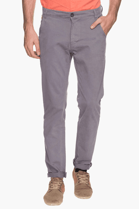 WROGN Mens Slim Fit Solid Chinos - 200525596