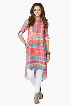 AND Womens Floral Print Kurta