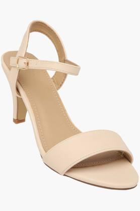 ALLEN SOLLY Womens Casual Wear Buckle Closure Heel Sandals
