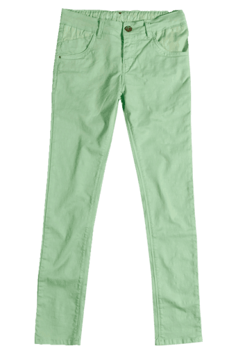 Girls 4 Pocket Solid Trouser (10-16 Yrs)