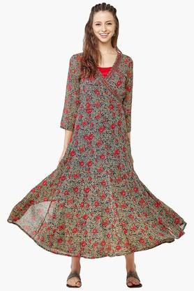 GLOBAL DESI Womens Printed Wrap Dress