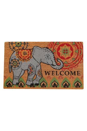 Rectangular Elephant Printed Door Mat