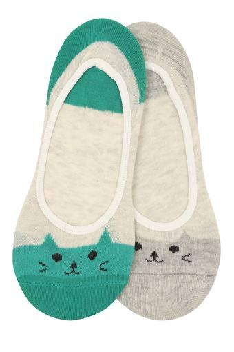Womens Printed Knitted Socks Pack of 2