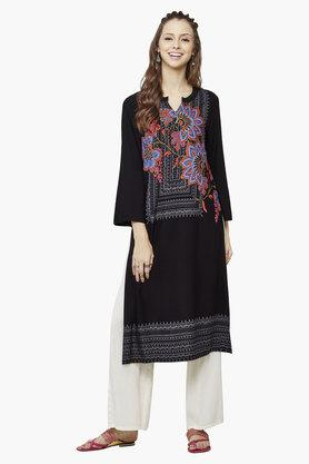 GLOBAL DESI Women's Kiaria Bell Sleeve Kurta