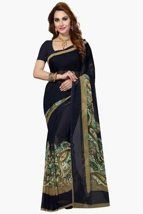 Women Faux Georgette Paisley Printed Saree